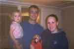 November 2005 Before shipping out. Elizabeth 2 1/2 Years, James 5 weeks and wife Mara