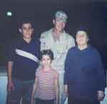 David with Iraqi Family during his 1st tour in Iraq 2003